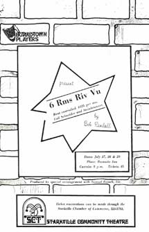 The program cover for 6 Rms Riv Vu